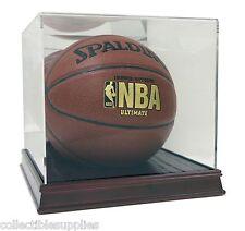 New Acrylic Full Size Basketball Display Case With Wood Base