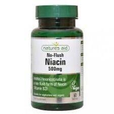 Niacin (No Flush) 500mg Vitamin B3 60 capsules natures aid