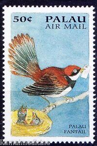Palau Fantail, Nest, Birds, Fantasies Flight, Palau 1994 MNH