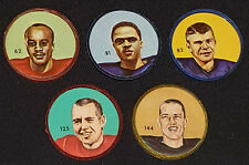 1963 - CFL - NALLEY'S POTATO CHIPS - FOOTBALL - PLASTIC COINS (5) - ORIGINAL