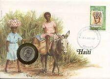 superbe enveloppe HAITI pièce monnaie 10 gourdes new neuf unc NUMISBRIEF