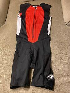 Mens De Soto Triathalon Skinsuit Tri Suit Skinsuit Cycling Medium M 3 Pockets