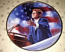 """Franklin Mint Collector Plate~John F Kennedy """"A Tribute to JFK"""" Limited Edition"""