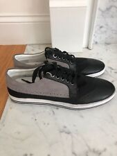 emperio armani men shoes black and white new size 10.5