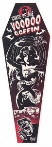 Voodoo Coffin STICKER Decal Artist Vince Ray VR71