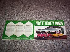 ALBUM AUTO DI TUTTO IL MONDO CORRIERE DEI PICCOLI 1967 COMPLETO TIPO PANINI EDIS