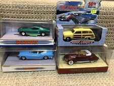Lot of 4 Car Models- 2 Dinky, Matchbox 1938 Lincoln Zephyr & Road Champs Woody