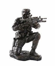 Brave Soldier in Combat Military Army Patriotic Honor Veteran Figurine Statue