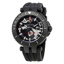 Versace V-Race Black Camo Dial Mens Watch VAK050016