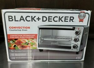 BLACK+DECKER 6-Slice Convection Countertop Toaster Oven. Stainless Steel/Black