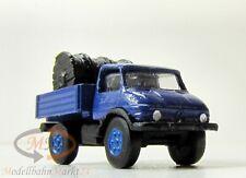 IMU 12212 Mercedes THW-Unimog mit Kabeltrommel blau Metall Spur N 1:160 - OVP