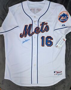 PAUL LO DUCA Majestic AUTHENTIC NEW YORK METS MLB Jersey 52 Signed Auto Steiner