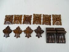 12 French Antique Salvage Decorative Wood Hand Carved Ornate Furniture Walnut