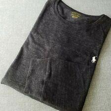 NWT POLO Ralph Lauren PONY LONG SLEEVE TEE Crew Neck T-Shirt BLACK HTR Mens L,XL