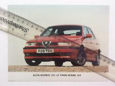 ALFA ROMEO 155 ORIGINAL COLOUR PRESS PHOTOGRAPHS x 3