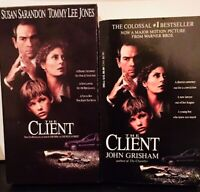 The Client 1994 film (VHS and Movie Tie-In Paperback) Susan Sarandon Legal Drama