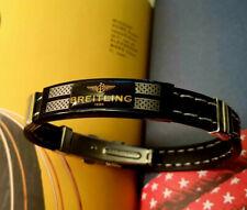 BREITLING rubber strap wristband bracelet swiss steel deployment clasp