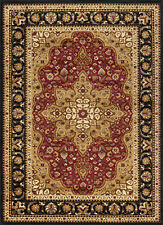 Traditional Oriental Medallion Black Red Area Rug **FREE SHIPPING**