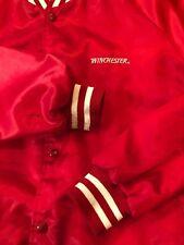 Vintage Winchester Ammunition Xl Men's Satin Jacket Hipster F&B Logos Rare! Vtg