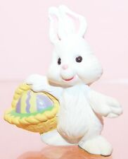 1993 Hallmark New Easter Bunny with Basket Merry Miniature Qsm8142 Never Used