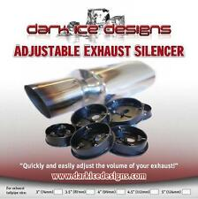 "Adjustable Volume 3.5"" Car Exhaust Silencer Baffle DB KILLER - UK made SIL.002"
