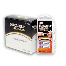 Duracell Activair Hearing Aid Batteries Size 312 (160 cells) FREE Battery caddie