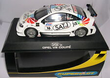 "SUPERSLOT H2409 OPEL ASTRA V8 COUPE  ""SAT 1 #16""  MENU  SCALEXTRIC UK"