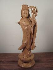 Boxwood Carving Kwan-yin (Guan Yin) Statue