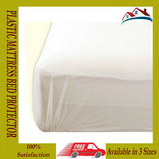 *NEW*PLASTIC MATTRESS PROTECTOR BED WETTING SHEET COVER WATER COFFEE TEA PROTECT