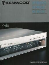 Kenwood KT-1000, KT-900, KT-800 Original Tuner Brochure