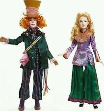 Disney Alice Through the Looking Glass Deluxe Alice & Mad Hatter Collector Dolls