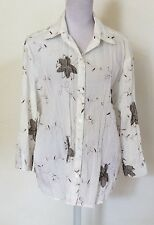 Miller's Women's Plus Size 22 Shirt Button Down Top  Work Poly Cotton Stretch