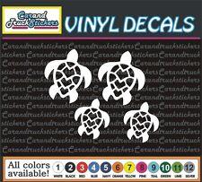 (7) Sea Turtle Turtles Family Boat Truck Car Vinyl Decal window sticker