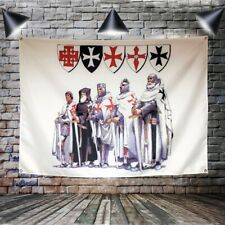 Knight Templar Flag Banner Polyester Wall Art Canvas Painting indoor Decoration