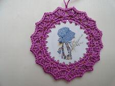 Crochet Gift Tag ~ Christmas Ornament ~ Present ~ Unique ~ Holly Hobbie