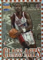 1996-97 Stadium Club Class Acts Refractor #CA7 Clyde Drexler Hakeem Olajuwon