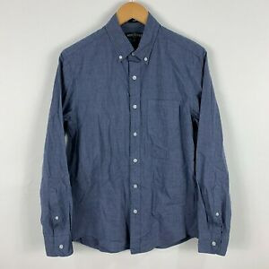 J Crew Mens Button Up Shirt Size Small Blue Slim Fit Long Sleeve Collared 32.18