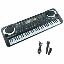 Keyboard Teclado musical de 61 teclas Teclado electrónico de piano con micrófo