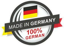 Fabriqué en allemagne 100% allemand rosette style drapeau allemand vinyle autocollant voiture décalque
