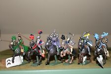 W. Britain Deetail Painted Plastic, Medieval Mounted Knights And Saracens