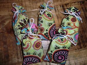 5 Lavendelsäckchen *paisley grün* Lavendelkissen Schrankduft Deko Wäscheduft