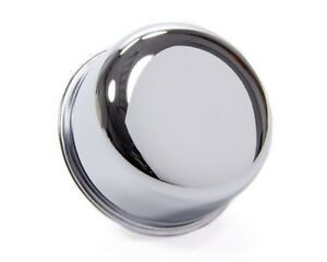 "Chrome Push-In Breather Cap 2-3/4"" Diameter w/ 1"" Neck Universal"