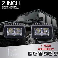2X 6W 5D LED Work Spot Light Bar Boat Truck SUV ATV UTE Car Lighting Lamp 4WD