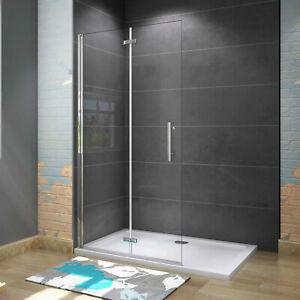 Faltbar+drehbar Walk-IN Nano ESG Glas Duschwand Duschtür Duschabtrennung Dusche