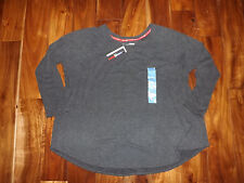 NWT Womens TOMMY HILFIGER Sport Dark Gray Lounge Sweatshirt Size XXL 2XL $59
