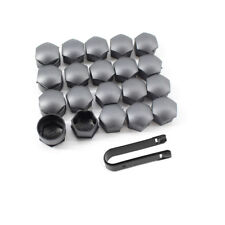 20pcs 17mm Wheel Lug Nut Bolt Cap Dust Cover+Hook Kit Fit For Audi PA66 Nylon