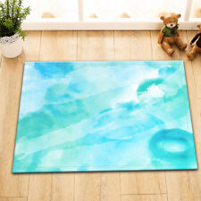 Teal Blue Artwork Nonslip Bath Mat Bathroom Home Floor Door Rugs Shower Carpet