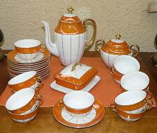 ANCIEN SERVICE A CAFE EN PORCELAINE FINE MODELE VICTORIA ANNEES 20  (431041)
