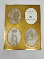 Victorian BURNES of BOSTON Two Daguerreo Type Frame Picture Collage Gold antique