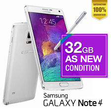 AS NEW Samsung Galaxy Note 4 - 32GB  White Unlocked FREE EXPRESS